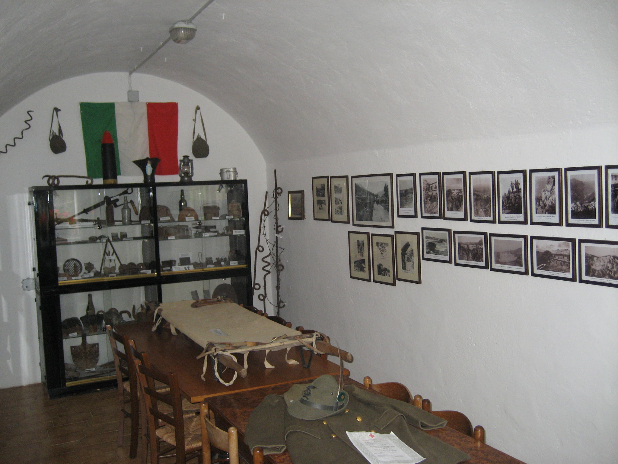 18950efa34 Historical Military Museum of Punta Corbin  part of the exposition.